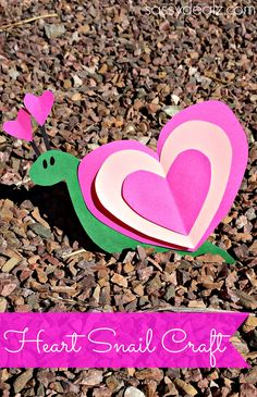 Heart Snail Craft For Kids (Valentine Art Project)