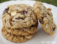 Cranberry Oatmeal Cookies.....Very Yummy, I didn't use the coconut, and used chocolate chips. Bake 8 mins, soft and gooey! New recipe for us! :)...Carrie