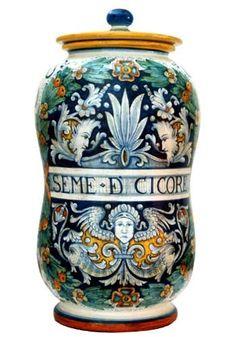 Deruta ceramic jar
