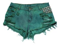 green high waist shorts.