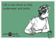 It's also too short to find and wear matching socks.