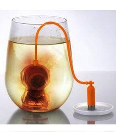 idea, diver tea, tea leaf, stuff, gadget, teas, tea infus, leaf filter, leaves