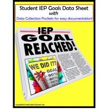 IEP Data Tracking Sheets and Cards- Tracking data on our student's strengths and weaknesses is important to determine whether or not a student has mastered their IEP goals.  There are many ways to track IEP goals, but this is one of the most user-friendly that I have seen!  Visit http://www.AutismEducators.com for more unique activities and work tasks!
