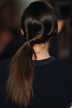 side twist ponytail.