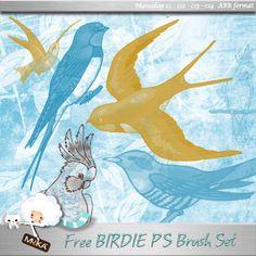Free Birds Photoshop Brush Set