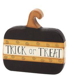 Loving this 'Trick or Treat' Pumpkin Décor