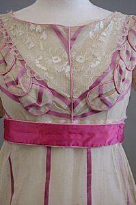1820 extant bodice pink