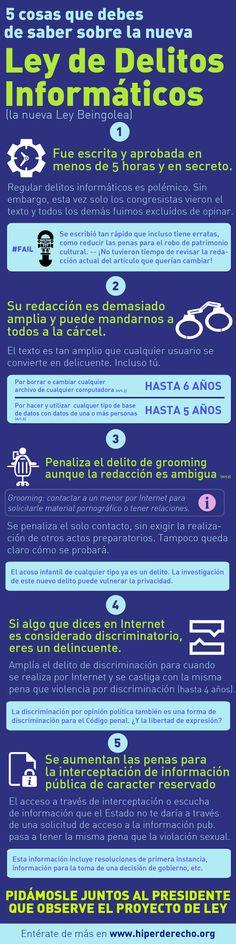 Ley de delitos informáticos en Perú #infografia #infographic