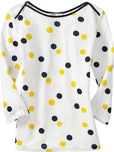 Polka dots + Maize and Blue = A shirt I had to buy!