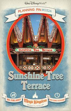 Walt Disney World Planning Pins: Sunshine Tree Terrace