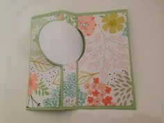 Inside of Sweet Sorbet 'flip' card - the largest circle from Circles #2 originals die fits perfectly #stampinup www.caroprettythings.com