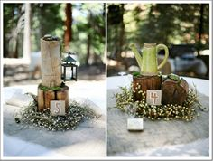 Rustic Wedding Centerpieces from http://www.rusticweddingchic.com