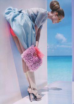 pastel, fashion, purs, blue, color, designer handbags, neon, hair, shoe