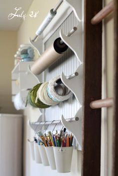 lets get organized - repurposed gun rack into a crafting masterpiece!