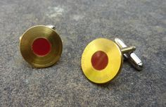 Gold & red titanium cufflinks made from BAR / Honda by LedonGifts, $30.00