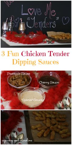 #ad #LuvTyson 3 Quick and Delicious Dipping Sauces that go perfectly with Chicken Tenders for a fun Valentine's Day Family Meal