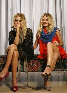 peopl, olsen twins, red, dresses, outfit, fashion blogs, ashley olsen, shoe, style fashion