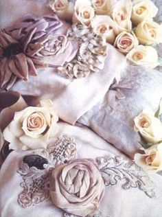 Lynda Albiero rose Dream Pillows rose dream, beauti dreamer, dreams, ribbon art, shabbi chic, magazines, dream pillow, pillows, ribbon flower