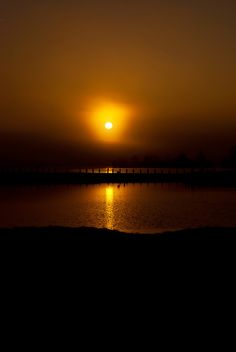 Sunrise, Patriot Lake at Shelby Farms in Memphis, Tennessee