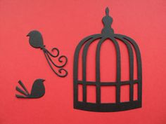 Silhouette Birds & Cages die cut shapes
