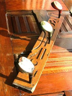 Repurposed wooden golf clubs into coat hat rack; Upcycle, recycle, salvage, diy, repurpose!  For ideas and goods shop at Estate ReSale & ReDesign, Bonita Springs, FL