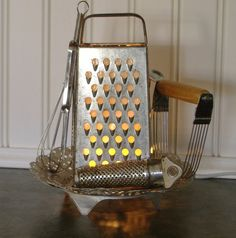 Cheese grater night light for kitchen