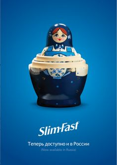 This ad announcing Slim-Fasts availability in Russia