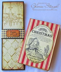 Christmas Santa Notepad and a Halloween one for the Holidays - by Gloria Stengel using Crafty Secrets Christmas and Halloween CD's.