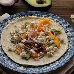 Wraps: avocado, mango, onion and feta recipe
