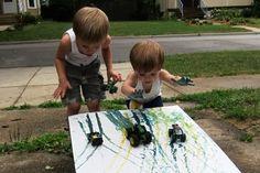 Monster truck painting!