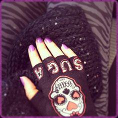 suga skull, skull glove