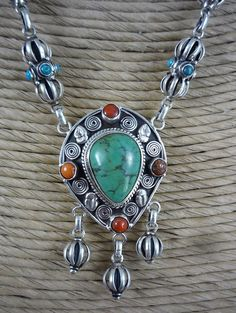 Sterling Silver Tibetan Necklace   19 by SmallWorldTreasures, $145.00