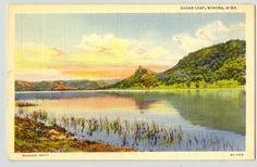 Sugar Loaf Winona, Minnesota 1940s postcard www.visitwinona.com