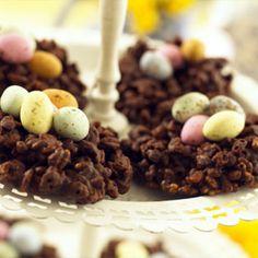 Chocolate nests...yum!