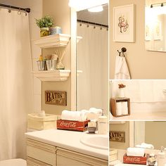 love the storage in this bathroom