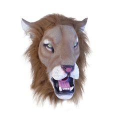 LION MASK Realistic Wild Animal Big Cat Beast Animal King Outfit Costume NEW | eBay