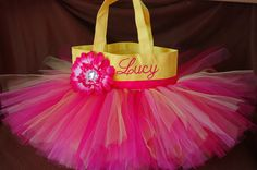 Personalized Tutu Bag ~ Gorgeous Easter Basket www.facebook.com/TutuTotesByJodie