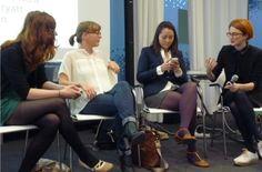 """SMW Berlin – Women in Tech panel.  Moving the debate beyond just """"women in tech"""".  Amen."""