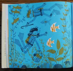 The Bottom of the Sea, illustrated by Ed Emberley / krakencrafts, via Flickr