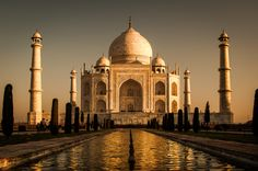 """Known as the """"crown of palaces"""", The Taj Mahal is seen as the greatest example of Mughal architecture. palac, crown"""