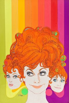 1967 lucille ball tv guide cover by robert peak