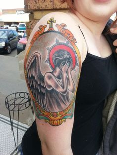 Doctor Who tattoo weeping Angel