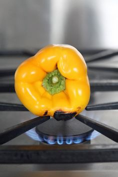"""How to """"Roast"""" Bell Peppers Without Turning On Your Oven"""
