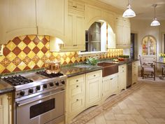 Be Confident With Color - Dreamy Kitchen Backsplashes on HGTV