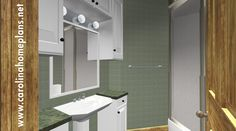 Attractive guest bath - small house plan SG-981-AMS.