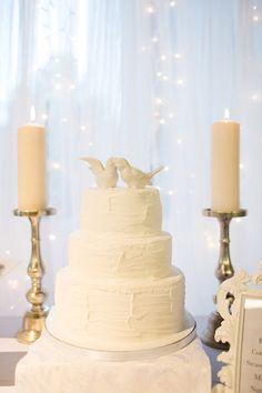 all-white cake, photo by Jackie Cooper Photo http://ruffledblog.com/notwedding-denver #weddingcake #cakes