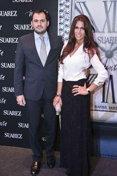 Emiliano Suárez y Jaqueline Sastre en el photocall de Imante, Suárez.