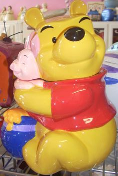 Winnie Pooh cookie jar with Piglet $59.99