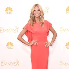 Heidi Klum from 2014 #Emmys. Follow us on Pinterest where we're adding all our favorite Red Carpet Arrivals!