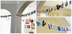 """Instagram Garland! A really fun and personal way to decorate for a party. Print 2""""x2"""" mini instagram prints, hang on baker's twine with mini clothespins and other decorations. After the party, you can scrapbook with the prints!"""